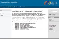 Research Network Chemistry meets Microbiology